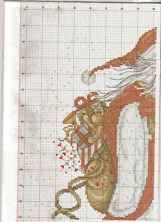Pin de Regine Fegali en Christmas Santa Cross Stitch | Pinterest ...