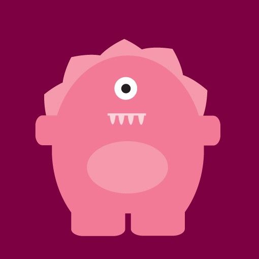 Nursery Art 'The Monster Crew - Ruby' - in Pink 6x6 Monster Print. $10.00, via Etsy.