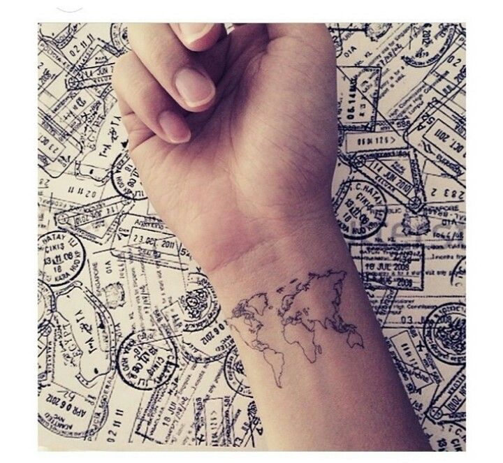 World map on wrist my style pinterest tattoo tatoo and tatoos world map on wrist gumiabroncs Image collections