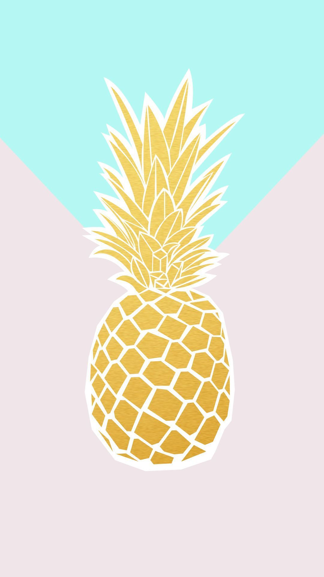 Rose Gold Cute Pineapple Phone Wallpaper rose gold cute
