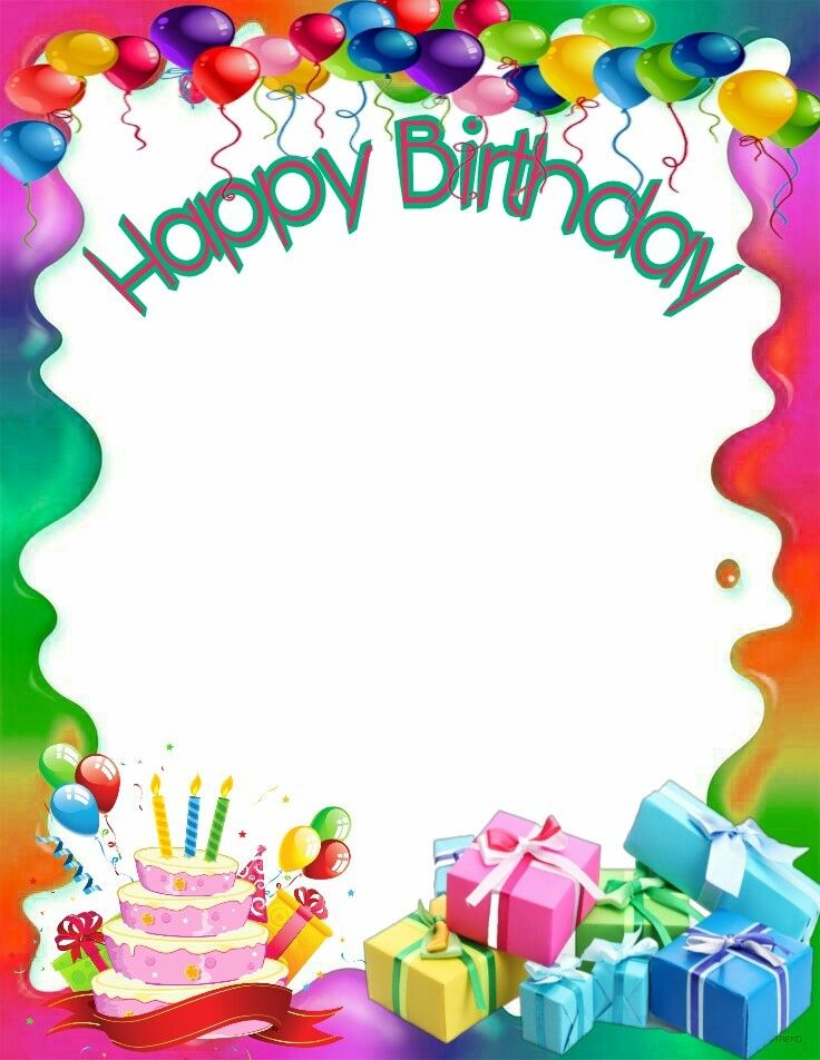 Happy Birthday frame Happy birthday frame, Birthday