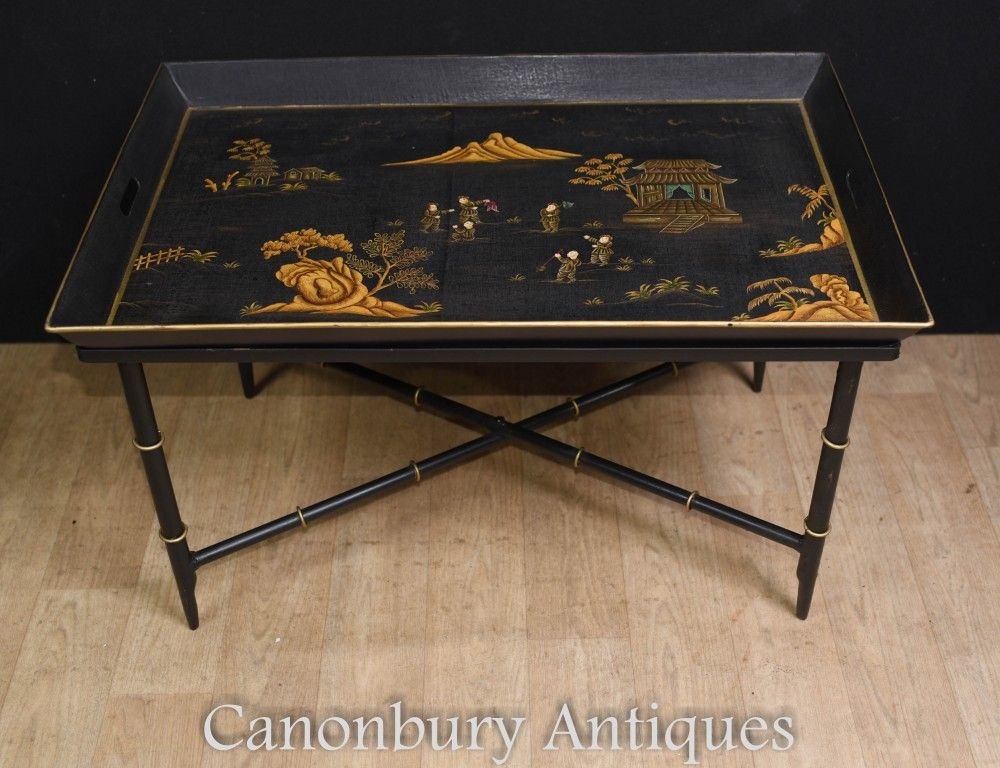 Black Lacquer Coffee Table Coffee Table Tray Table Coffee