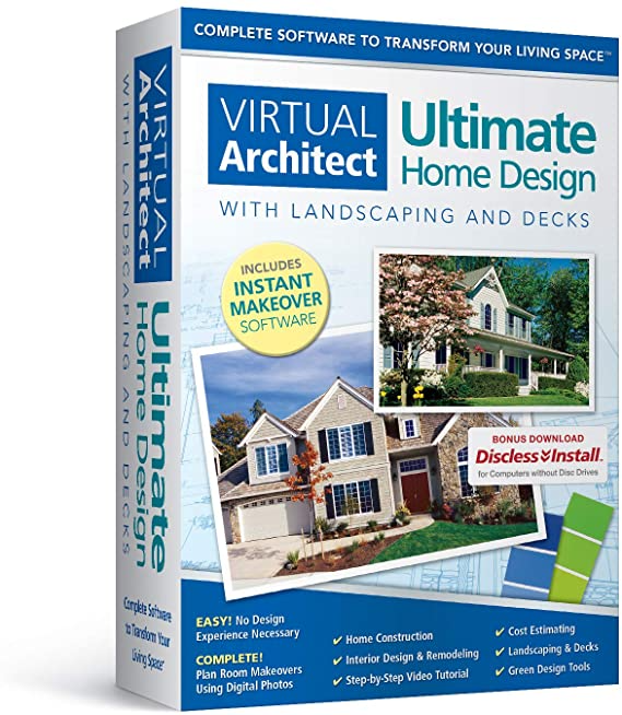 Amazon Com Virtual Architect Ultimate Home Design With Landscaping And Decks 9 0 Software In 2021 House Design Design Your Dream House Architect