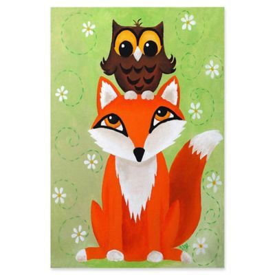 "Marmont Hill Owl On Fox 20"" X 30"" Canvas Wall Art Multi"