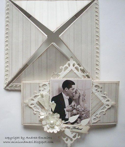 """Hi Zusammen,   bei EAC ist das Thema diese Woche   """"Herz""""   Ich habe an meine Hochzeitskarte ein paar Herzstecker  gepinnt. Dazu gibt..."""