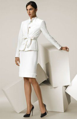 f090fc2ace7b Max Mara belted suit White Mini Dress, Skirt Suit, Office Outfits, Max Mara