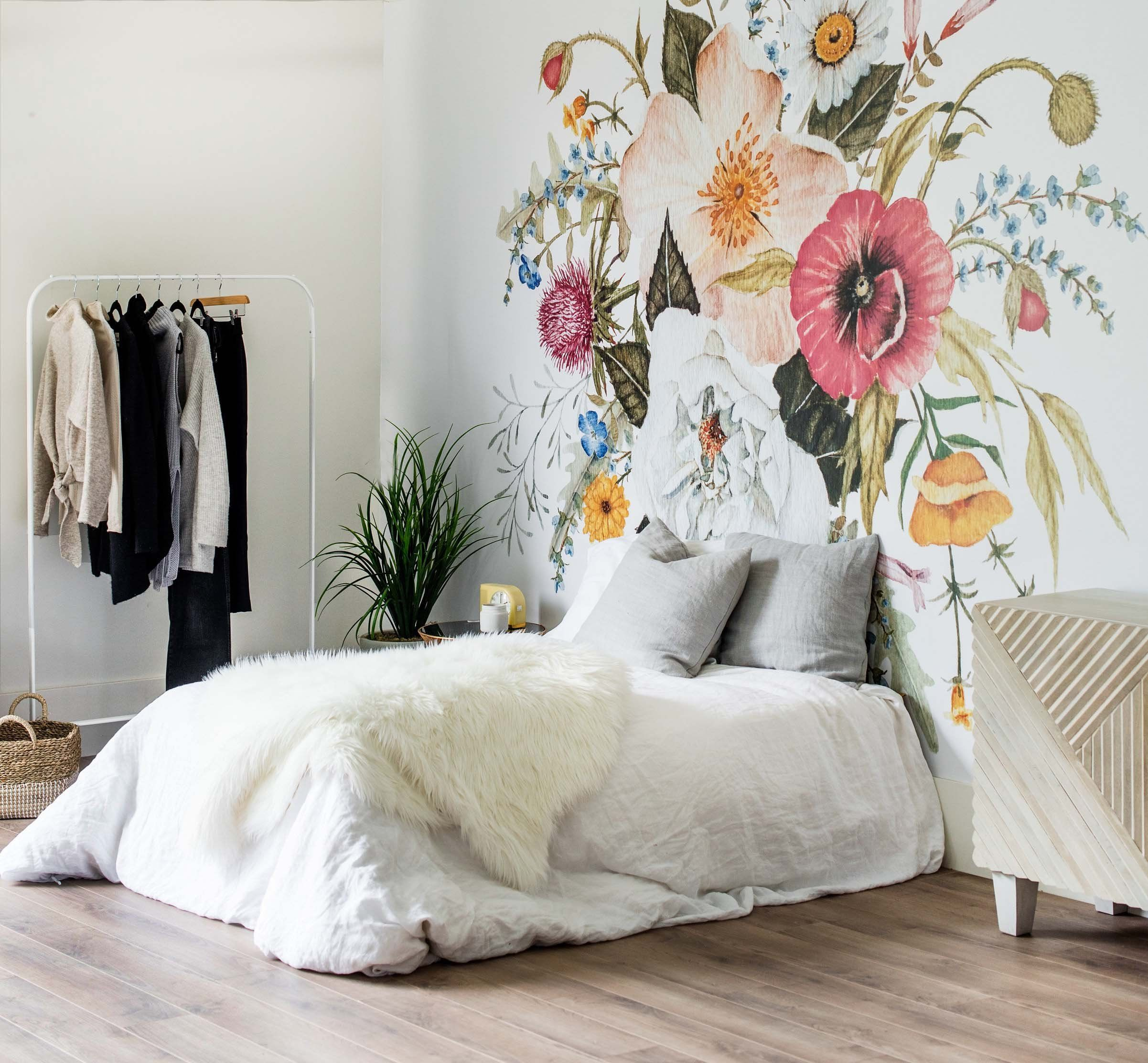 Honey Bloom Wallpaper Large Flower Mural, Flower Pattern