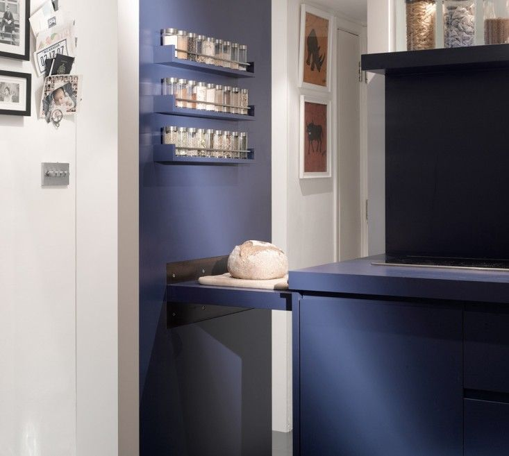 Blue Kitchen London: Openstudio Architecture Small Space Blue Laminate