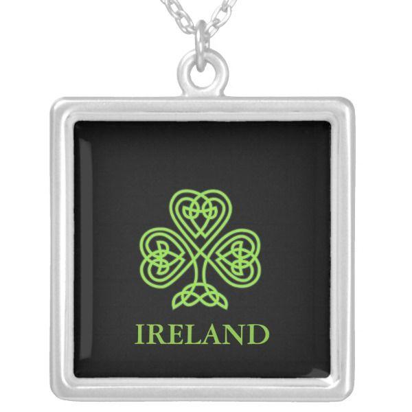IRELAND (Shamrock) Necklace #ireland #necklace #irishjewelry #celticjewelry #gothjewelry #goth #celticsymbols #gothchicks #gothgear #irelandgifts #irishpagans #pagan #wicca #druids