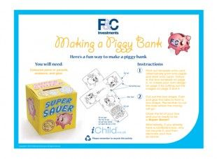 Make A Piggy Bank Money Box Template