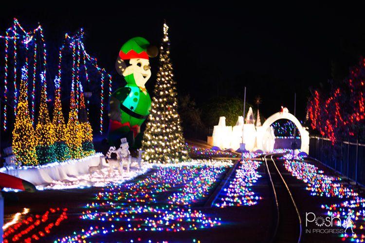Mccormick Railroad Park Christmas Lights Posh In Progress Christmas Lights Christmas Display Christmas Fun