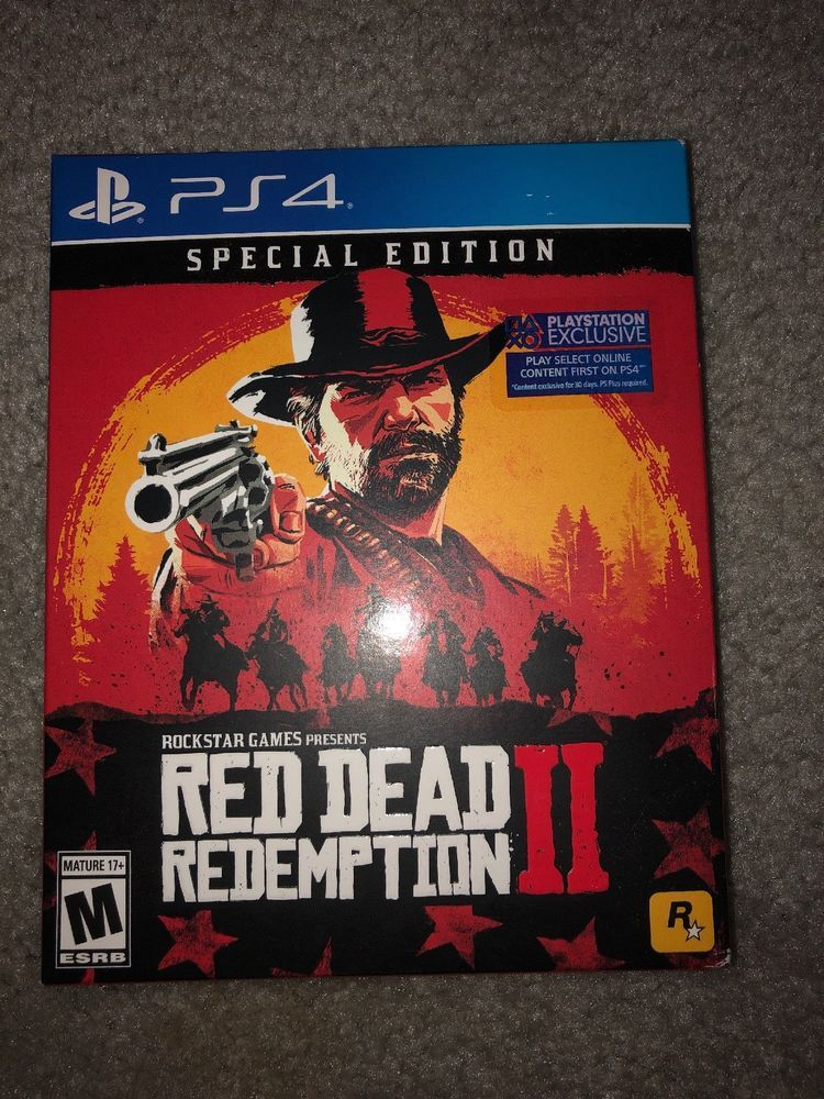 Red Dead Redemption 2 Special Edition Sony Playstation 4 Red Dead Redemption Rockstar Games Redemption