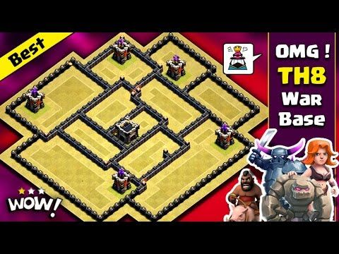 Town Hall 8 Best War Base 2017 Th8 Bomb Tower Anti 3 Star Anti Everything Clash Of Clans Youtube Clash Of Clans War Clan