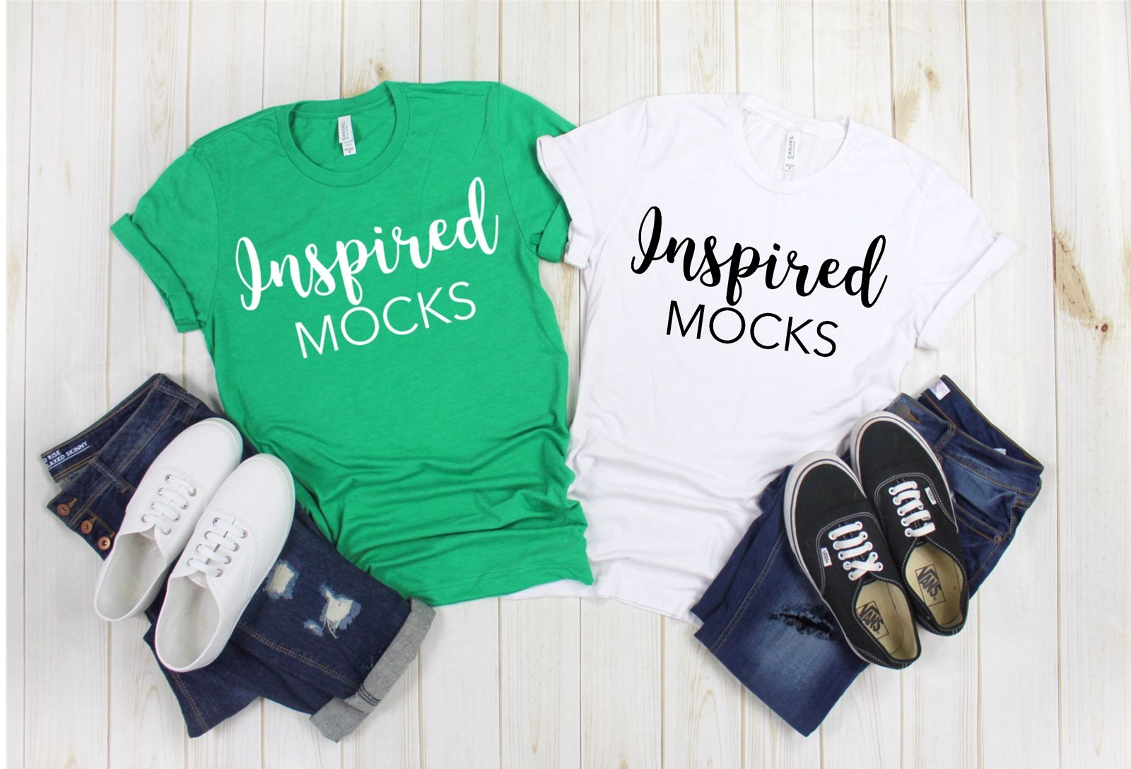 Download Bella Canvas 3001 White And Green Tshirt Mockup Shirt Mockup Green T Shirt Mock Up Flat Lay M Shirt Mockup Clothing Mockup Mockup Free Psd