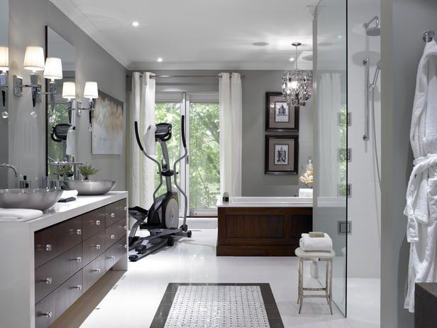 Home Gym #bathroom #renovation #gym #elliptical  Bathroom Design Interesting Gym Bathroom Designs Design Decoration