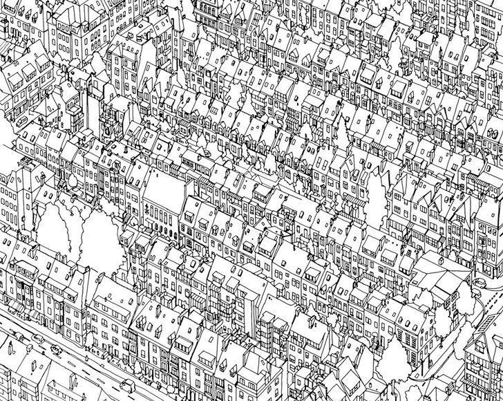 [BOOK] 어른들을 위한 컬러링북 <Fantastic Cities> Steve Mcdonald :: archive23