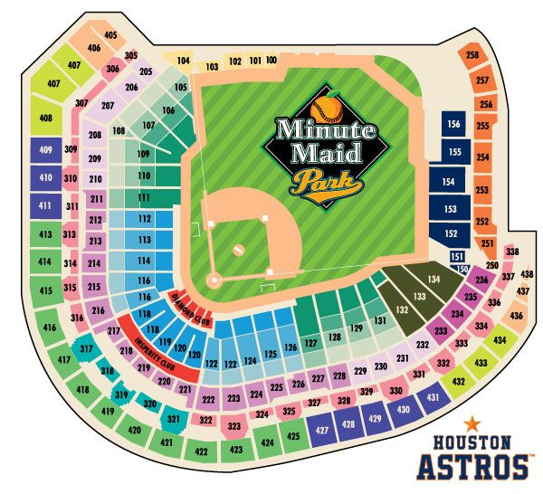Astros Stadium Map Astros Seating Chart | Misc | Minute maid park houston, Minute