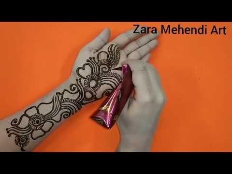 Simplearabic henna design for front hand zara mehendi art youtube also rh pinterest