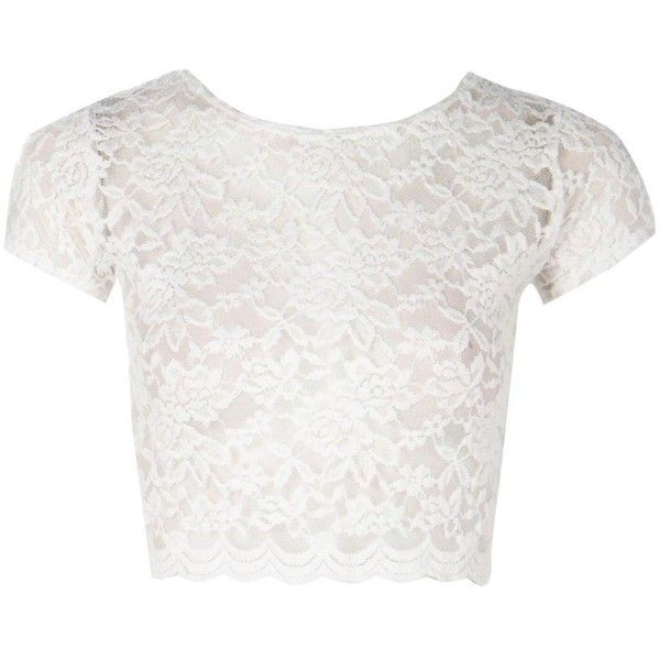 8c9c894058b243 Boohoo Tricia Lace Crop Top ($20) ❤ liked on Polyvore featuring tops, crop  top, shirts, off the shoulder tops, lace bralet tops, white off shoulder top,  ...