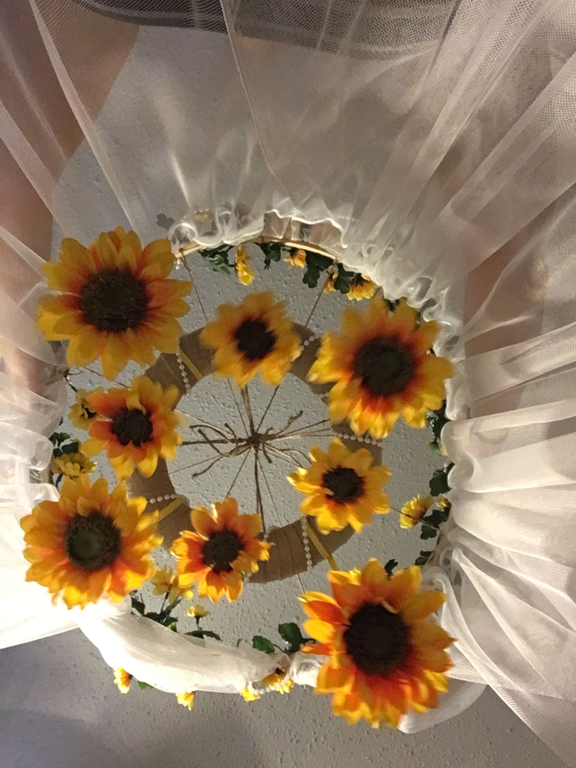 Diy Sunflower Mobile And Baby Canopy Baby Girl Nursery Room Baby Canopy Baby Nursery Diy