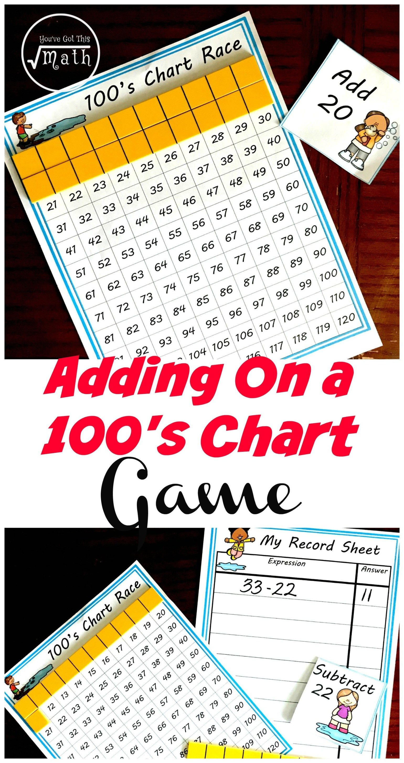 One Easy Game To Practice Adding Tens On A Hundred Chart