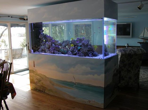 Beau Inspiring 55 Original Aquariums In Home Interiors : 55 Original Aquariums  In Home Interiors With White Living Room Wal Sofa Table Lamp Big Window And  ...
