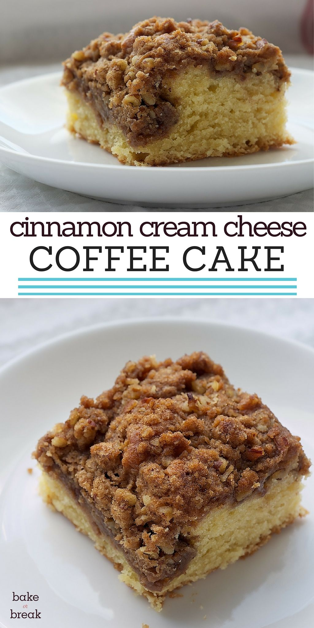 Cinnamon Cream Cheese Coffee Cake Recipe Cake Desserts Coffee