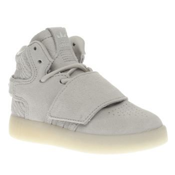 Adidas Beige Tubular Invader Strap Unisex Toddler Mini sneakerhead vibes  couldnt be any more adorably stylish than the adidas Tubular Invader Strap.