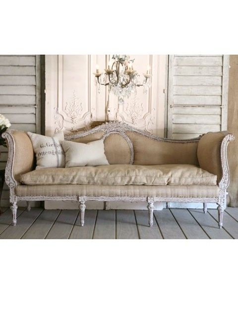 Attractive Burlap Couch