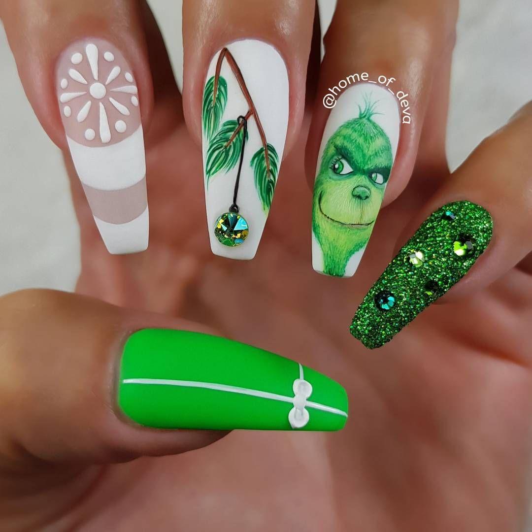 grinch nails | .♡.nαíls.♡. | Pinterest | Manicure