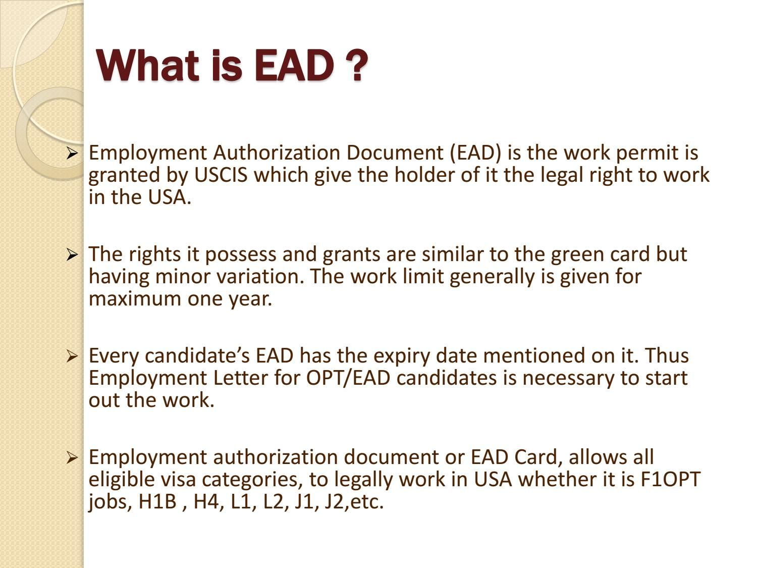 How To Apply For Ead And Its Requirements How To Apply Employment Authorization Document Sample Resume