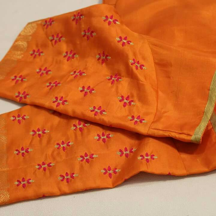 Trailer Embroidery In 2019 Blouse Designs Silk Blouse Designs