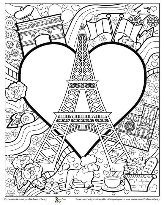 french coloring pages | Adult colouring | French | Mandalas para colorear, Dibujos ...
