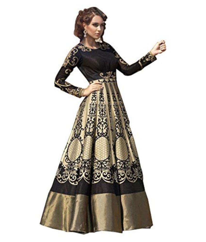 39fe922970 ... Silk Anarkali Gown Semi-Stitched Suit Price in India - Buy Poshak Mart  Multicoloured Bhagalpuri Silk Anarkali Gown Semi-Stitched Suit Online at  Snapdeal