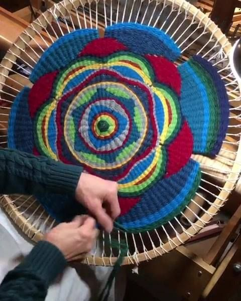 Pin By Dragomir Claudia On Hobby Circular Weaving Loom