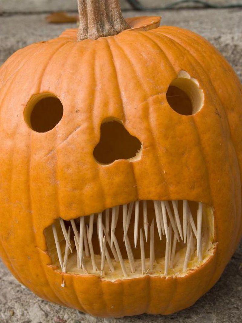 Id e d co halloween pour ext rieur et int rieur chic dr le ou affreuse soiree halloween - Citrouille effrayante ...