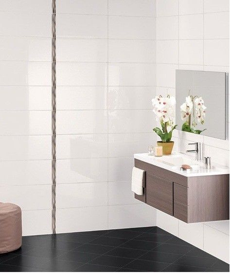 Atlas Ceramics White Bathroom Tiles White Tile Bathroom Walls White Wall Tiles