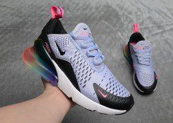 12982ac3fd Women's Nike Air Max 270 Be True Purple Dawn Black Pink Blast AR0344 500  Girls Running Shoes Summer Sneakers