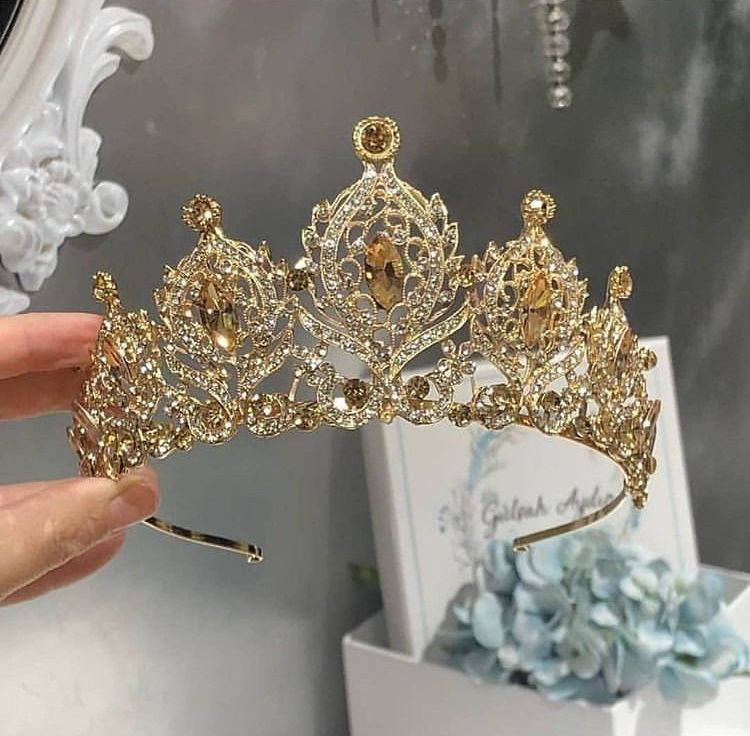 Unique Style Gold And Clear Crystal Dragonfly Branch Tiara  Crown
