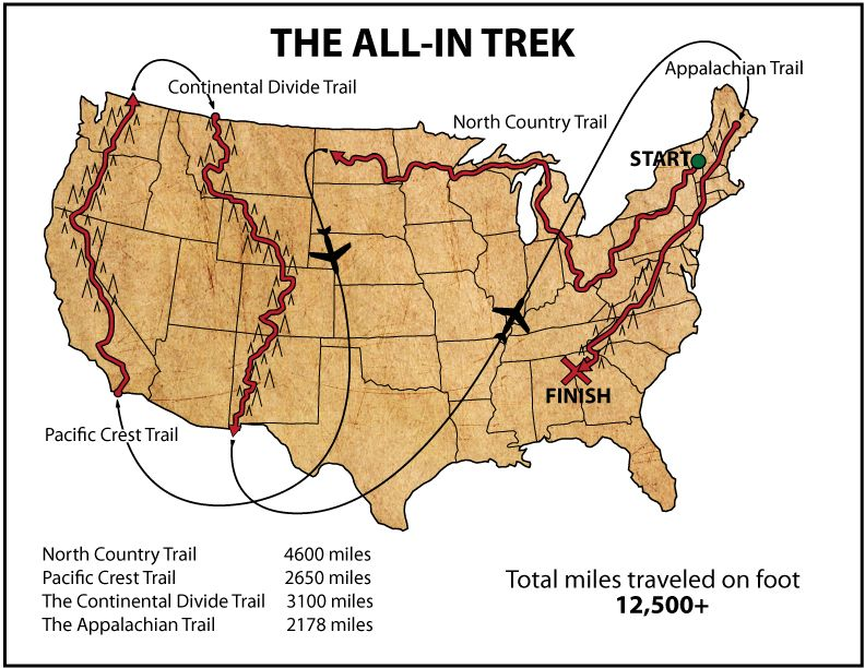 """And here is the website - """"The Initiative"""" one hiker's goal: to do the All In Treck in one year - back to back through hikes- check out his trail info and his blog/pics- what an inspiration- the first person to attempt this"""