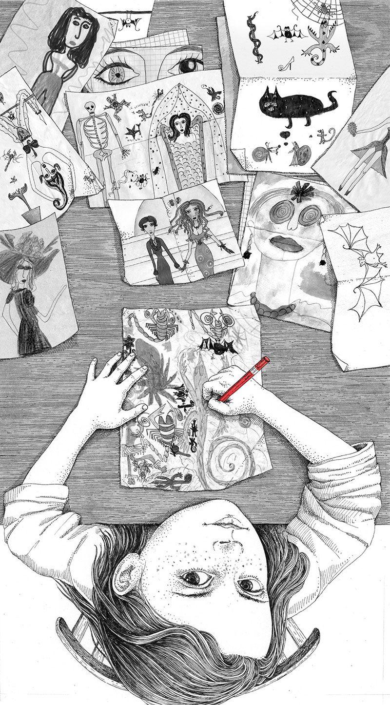 My Childhood: Illustrations by Sveta Dorosheva | Faith is Torment | Art and Design Blog