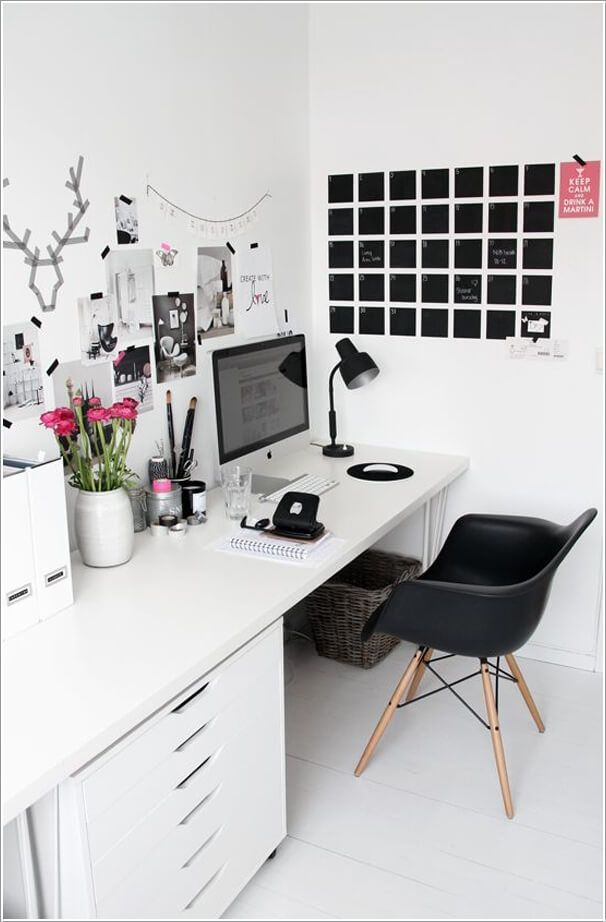 10 chic and beauteous home office desk ideas 6 inspired rh pinterest com chic office desk decor fashionable office desks