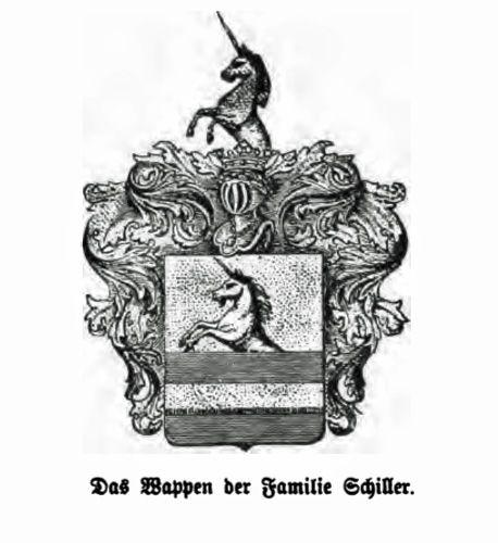 Het wapen van de familie Schillerr