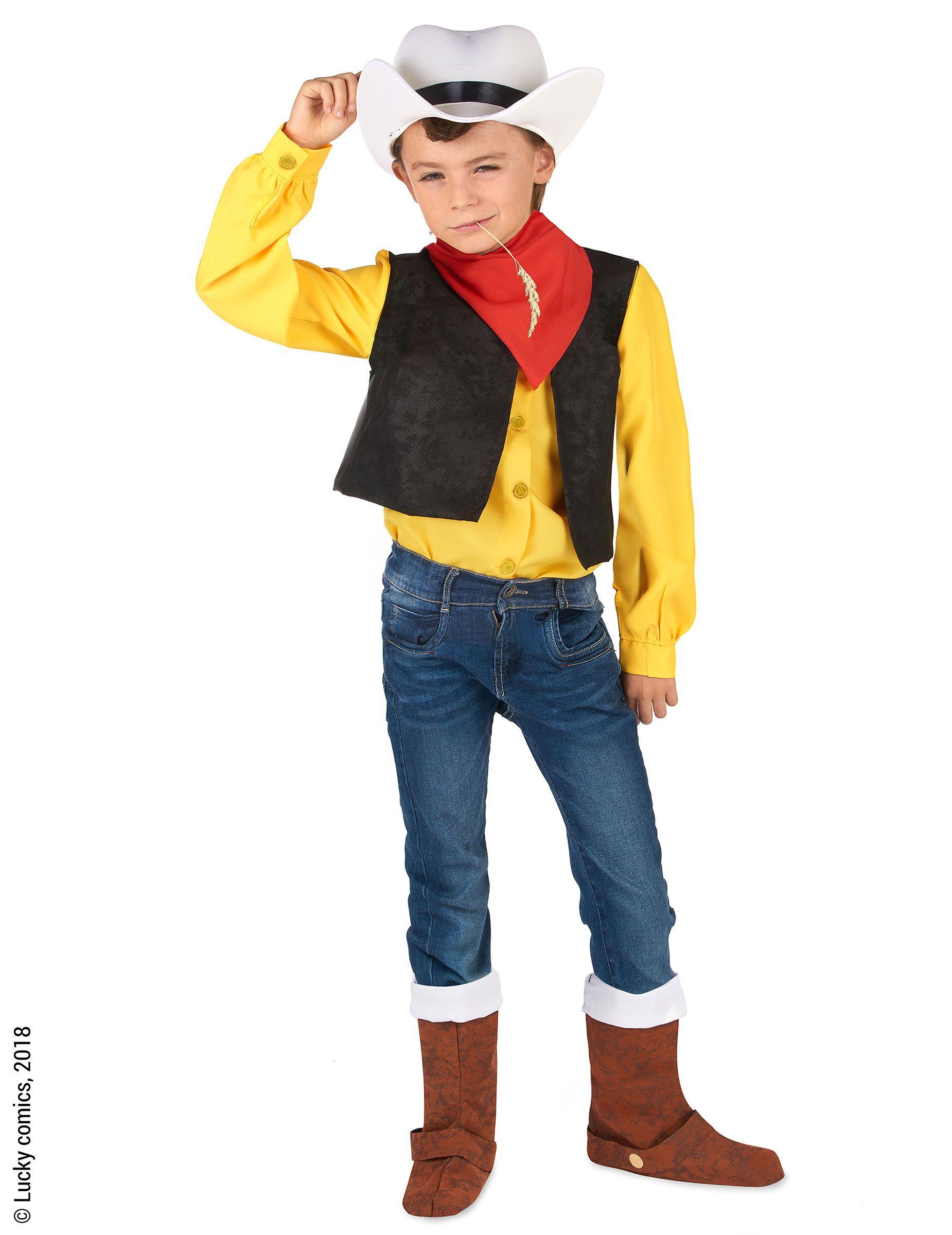 Disfraz Lucky Luke™ niño  Este disfraz de Lucky Luke para niño tiene  licencia oficial. Incluye un sombrero 4e1558f1f8c