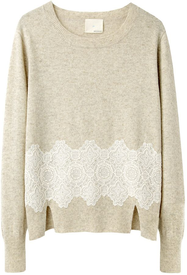 Band Of Outsiders lace pullover on shopstyle.com