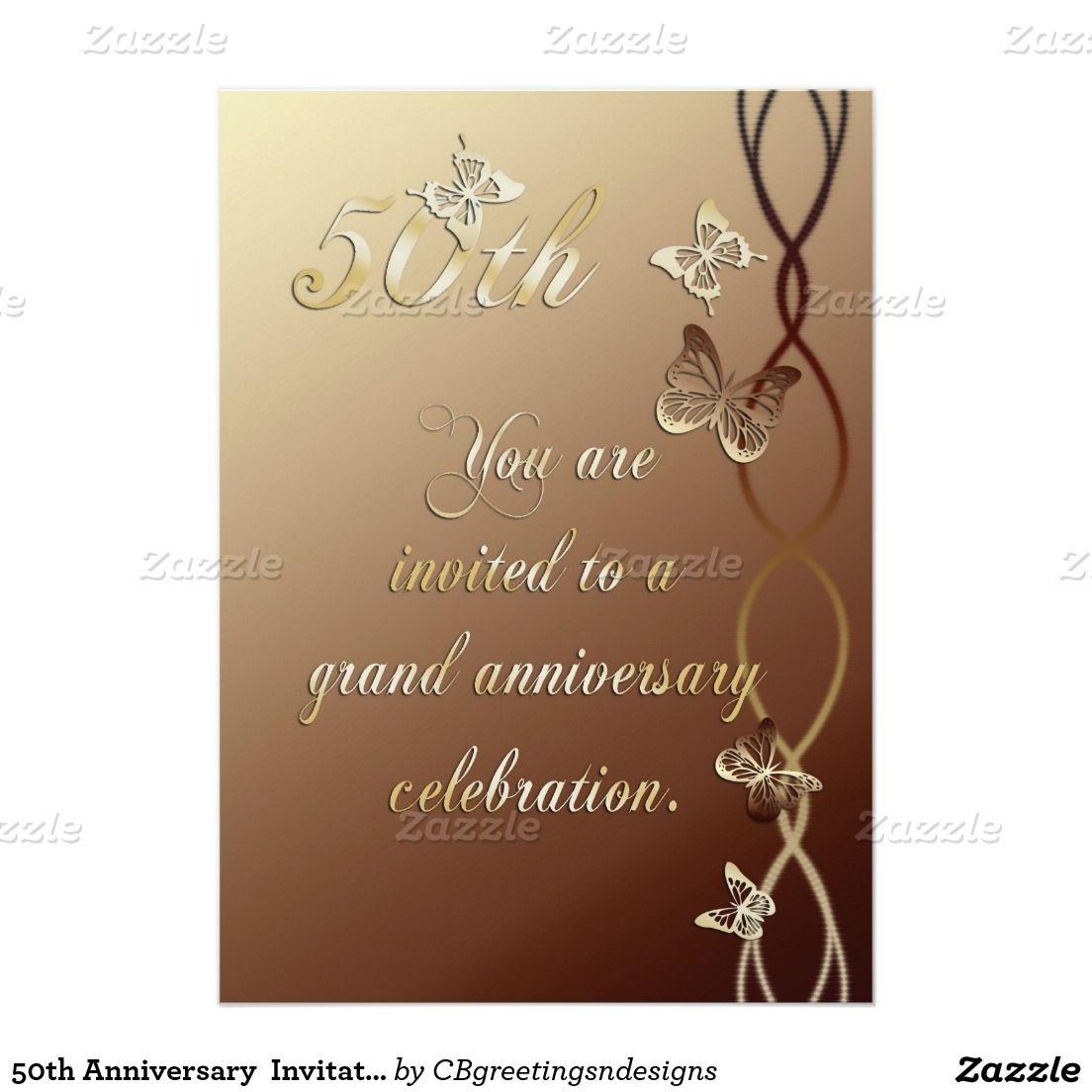 50th Anniversary Invitation 50th Anniversary Invitations