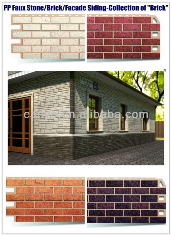 Fake Stone Facade Brick Basement Siding Interior Exterior Wall Cladding Panel Wall Decoration Fa Fake Brick Wall Exterior Wall Cladding Wall Cladding Panels