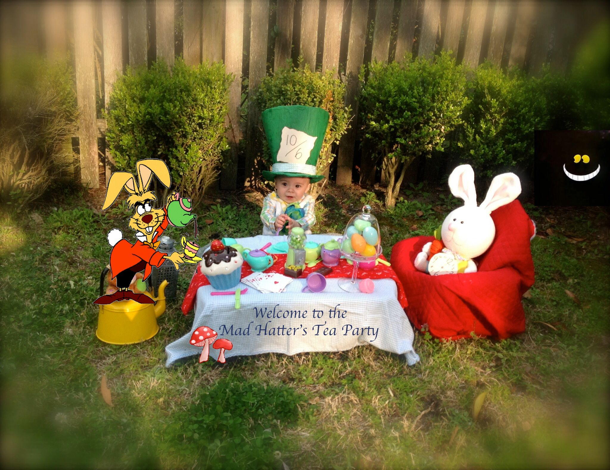 Babys First Easter Photos I Went With A Alice In Wonderland Tea Party Theme My Baby Boy As The Mad Hatter Definitely One Of Most Fun Scenes And