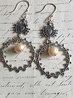 "Designer Heart Sword Earrings with Bead, 3"" Drop Tara Gasparian, http://www.amazon.com/dp/B008MNF97G/ref=cm_sw_r_pi_dp_CdaEqb0FP22C7"