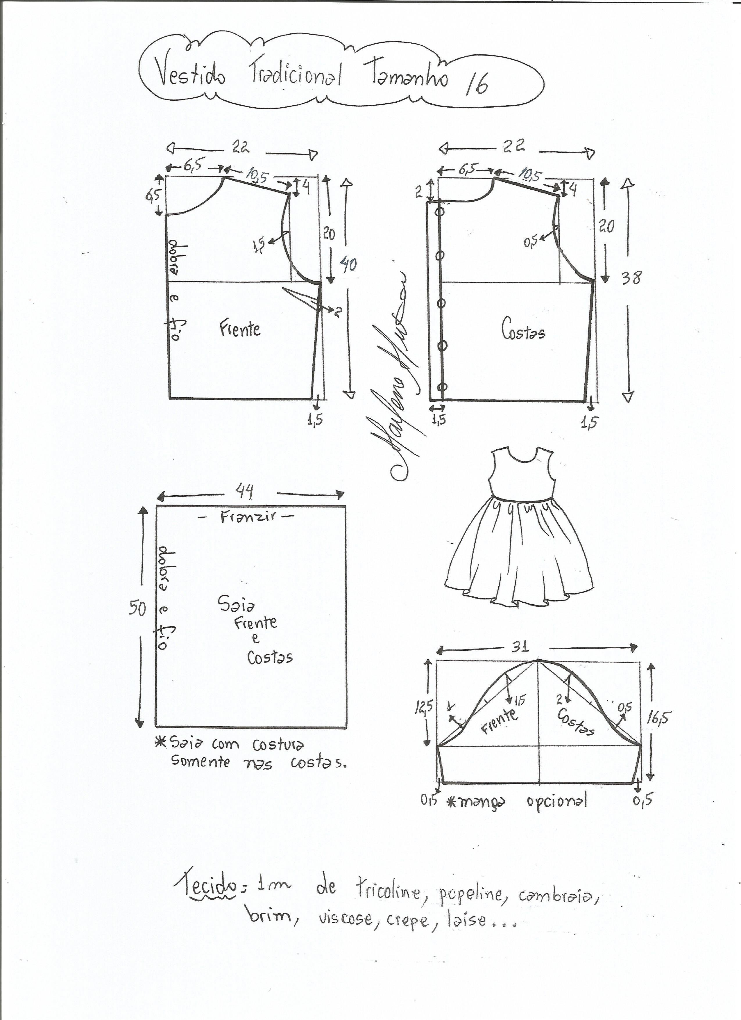 Pin de veronica castrillon en costura | Pinterest | Patrones de ropa ...